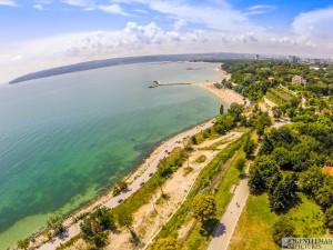 Плажна ивица -гр.Варна въздушни снимки варна