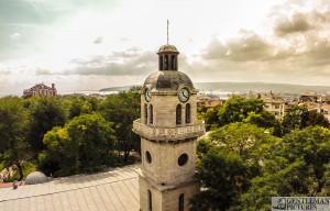 Градският часовник - въздушни снимки